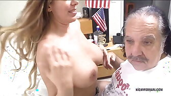 Nicky Ferrari Coition back my perfection nearby Ron Jeremy.